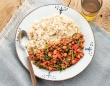『大人気レストラン「然の膳」の世界一美味しいカンタン薬膳ごはん』より「ひよこ豆とほうれん草のキーマカレー」