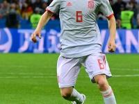 2018 FIFA W杯 スペイン対イラン戦でのアンドレス・イニエスタ 写真:AFP/アフロ