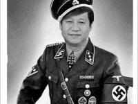 大学生がアップしたと見られる画像。こちらは見ればわかる通り、習近平とナチスの制服のコラ画像