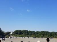 皇居上空に現れた超巨大UFO