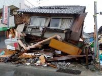 熊本地震で被害を受けた、熊本県上益城郡益城町の様子