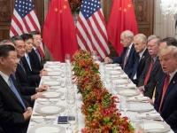 米中首脳会談の様子(写真:AFP/アフロ)