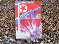 北朝鮮・平壌で開かれた反米集会の様子(提供:KNS/KCNA/AFP/アフロ)