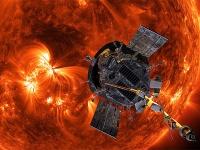 太陽に接近するパーカー・ソーラー・プローブの想像図(提供=NASA/Johns Hopkins APL/Steve Gribben)
