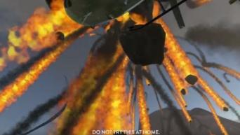 火攻め・水攻め・投石攻め!VRとリアルをクロスミックスさせた、はしごに登って賞金袋をつかむというチャレンジが怖い!