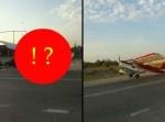マジかよ… 一般道で自動車と飛行機の衝突事故が発生