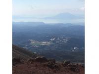 坂本龍馬が登った高千穂峰からみた霧島市
