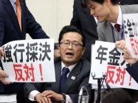 年金制度改革関連法案が可決(写真:つのだよしお/アフロ)