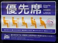電車内の優先席の表示