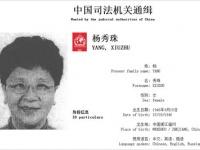 政府が公開した、楊秀珠被告の指名手配写真