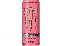 ピンク色がキュートな『モンスター パイプラインパンチ』190円(税別)