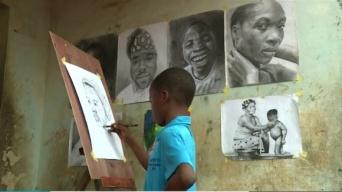 描くことで家計を助ける。驚きの描画力でリアリティのある絵画を描くナイジェリアの11歳の少年