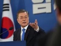 韓国の文在寅大統領(写真:代表撮影/ロイター/アフロ)