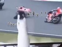猫の魔の手はテレビ内にも伸びる。次々と転倒させられる人々