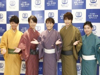 左から松阪ゆうき、はやぶさ(ヤマト・ヒカル)、松尾雄史、三丘翔太