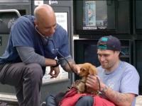 ホームレスの犬を無償で診察する獣医師(アメリカ)
