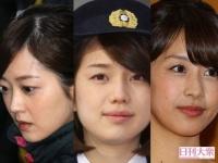 (左から)水卜麻美アナウンサー、弘中綾香アナウンサー、加藤綾子