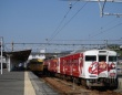 画像は2017年のカープ列車
