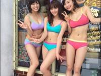 ※イメージ画像:「浅川梨奈Twitter(@SG_NANA_avex)」より。左から、わちみなみ、浅川梨奈、小倉優香