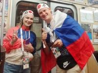 日本を応援するロシア人サポーター