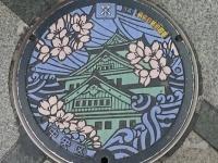 こちらは大阪市のマンホール