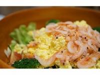 サクラエビと春野菜のサラダ(撮影=筆者)