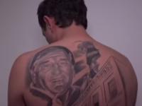 感謝の気持ちを伝えたい。命を救ってくれた医師の顔のタトゥを背中に入れた男性患者(アルゼンチン)