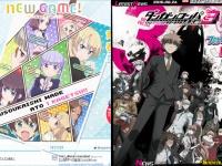 左:『NEW GAME!』、右:『ダンガンロンパ3-The End of 希望ケ峰学園-』、各公式サイトより。
