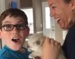 「オーマイゴッド!」おうちににペットがやってきた!ビックリ嬉しい子供たちの反応がプライスレス