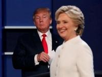 2016年米大統領選挙・ラスベガスでの最後の討論会(ロイター/アフロ)