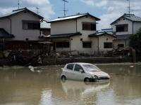西日本で記録的豪雨(写真:AFP/アフロ)
