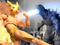 ピカチュウめいたマッチョマンが肉体のみで歴代のゴジラと戦うストップモーションフィルム「Pexachu VS Godzilla 」