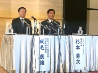 東芝メモリ社長・成毛康雄氏と杉本勇次氏