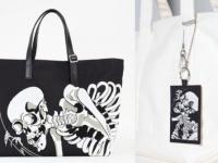 江戸時代の浮世絵師「歌川国芳」が描いた「巨大骸骨」の刺繍が施されたバッグや定期入れが通販で買える!