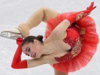 女子フィギュアスケートで金メダルを獲得したアリーナ・ザギトワ選手(写真:ロイター/アフロ)