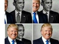トランプ大統領の日食画像