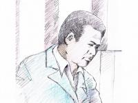 裁判官の質問に答える甘利明氏