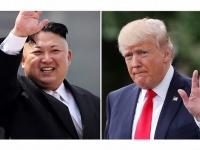 北朝鮮の金正恩朝鮮労働党委員長(左)とアメリカのドナルド・トランプ大統領(右)(写真:AP/アフロ)