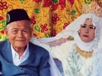年の差76歳。103歳男性が27歳女性とお見合い結婚(インドネシア)