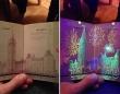 カナダのパスポートに隠された秘密。ブラックライトを当てると色鮮やかな絵柄が浮かび上がる!