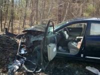 運転中、車内でクモがいるのを発見した女性。パニックに陥り衝突事故。車を大破させる(アメリカ)