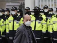 韓国、深刻な大気汚染(写真:AP/アフロ)