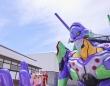 江戸の町並みに初号機が出現!(写真はエヴァンゲリオン京都基地公式ツイッター