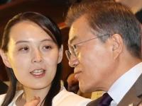 韓国の文在寅大統領(右)と北朝鮮の金与正氏(写真:YONHAP NEWS/アフロ)