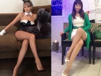 お2人ともキレイな、おみ足ですわね。 左:梅宮アンナInstagramより 右:神田うのオフィシャルブログより