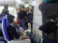 大騒動になった機内の様子