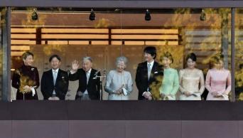 2019年1月2日、平成最後の新年一般参賀にて、おそろいになった皇室ご一家(写真:UPI/アフロ)