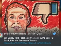 ジム・キャリーがFacebookにブーイング!アカウント削除を呼びかける