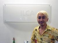 ILCAのエントランスにて笹原監督