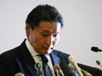 引退会見を開く貴乃花親方(写真:日刊現代/アフロ)